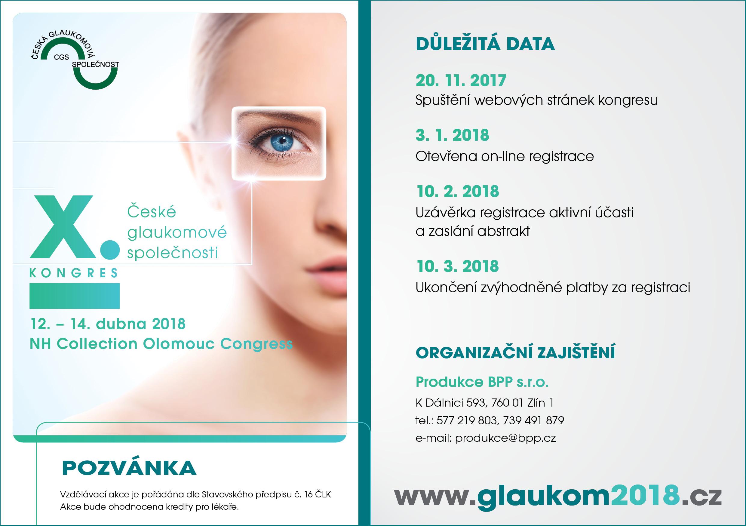 X. Kongres České glaukomové společnosti