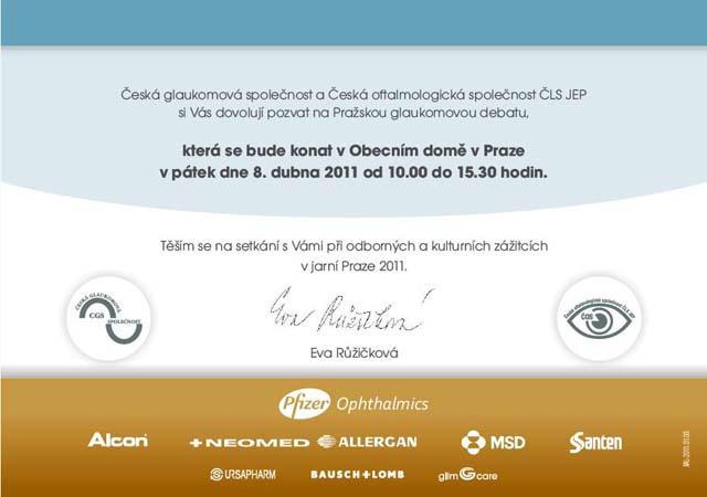 Světem za glaukomem 2011