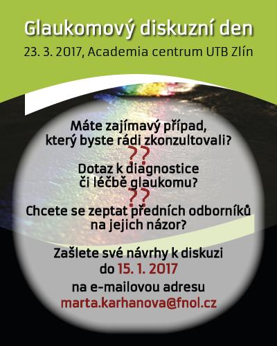 Glaukomový diskuzní den, 23. 3. 2017