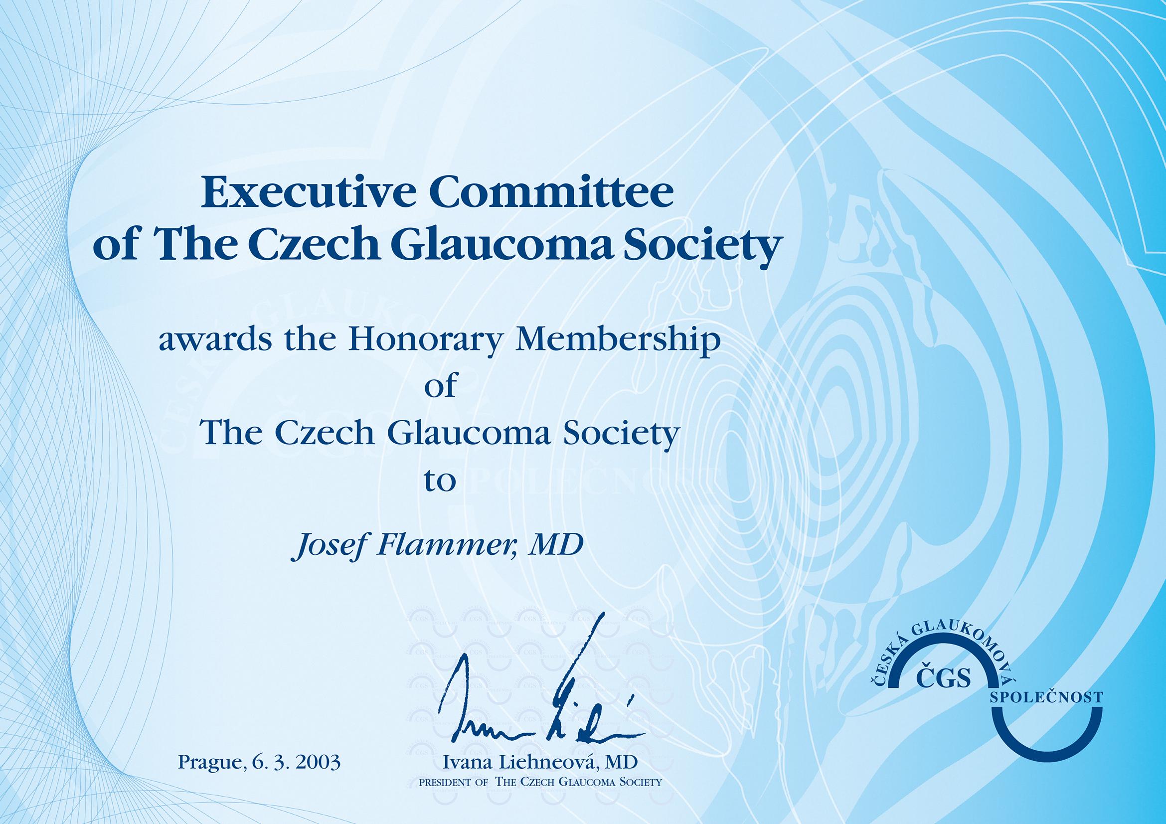 Čestné členství 2003