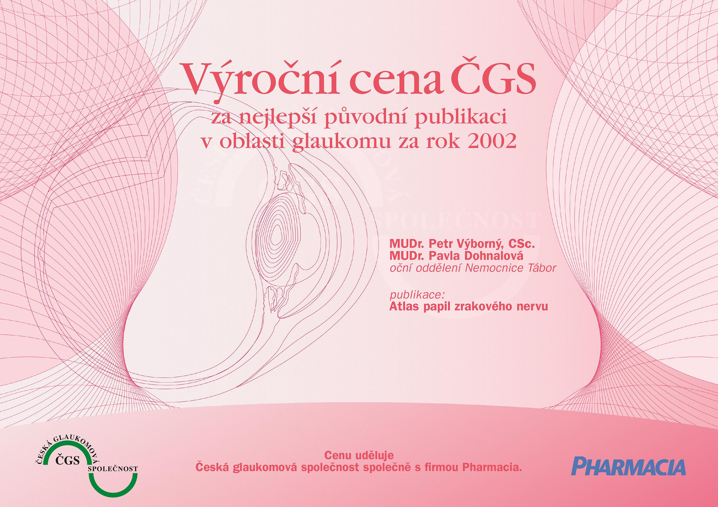 Výroční cena ČGS 2002
