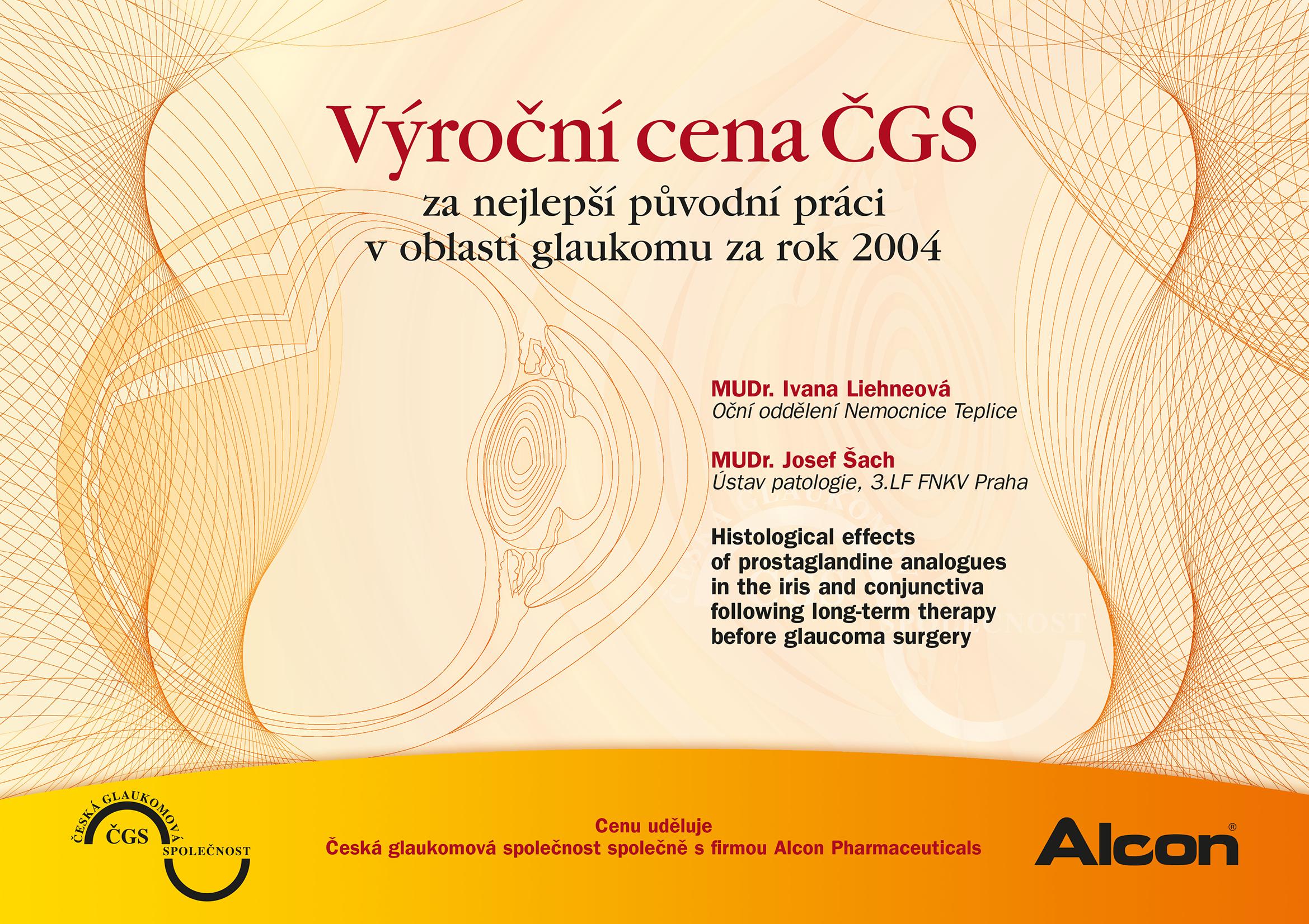 Výroční cena ČGS 2004