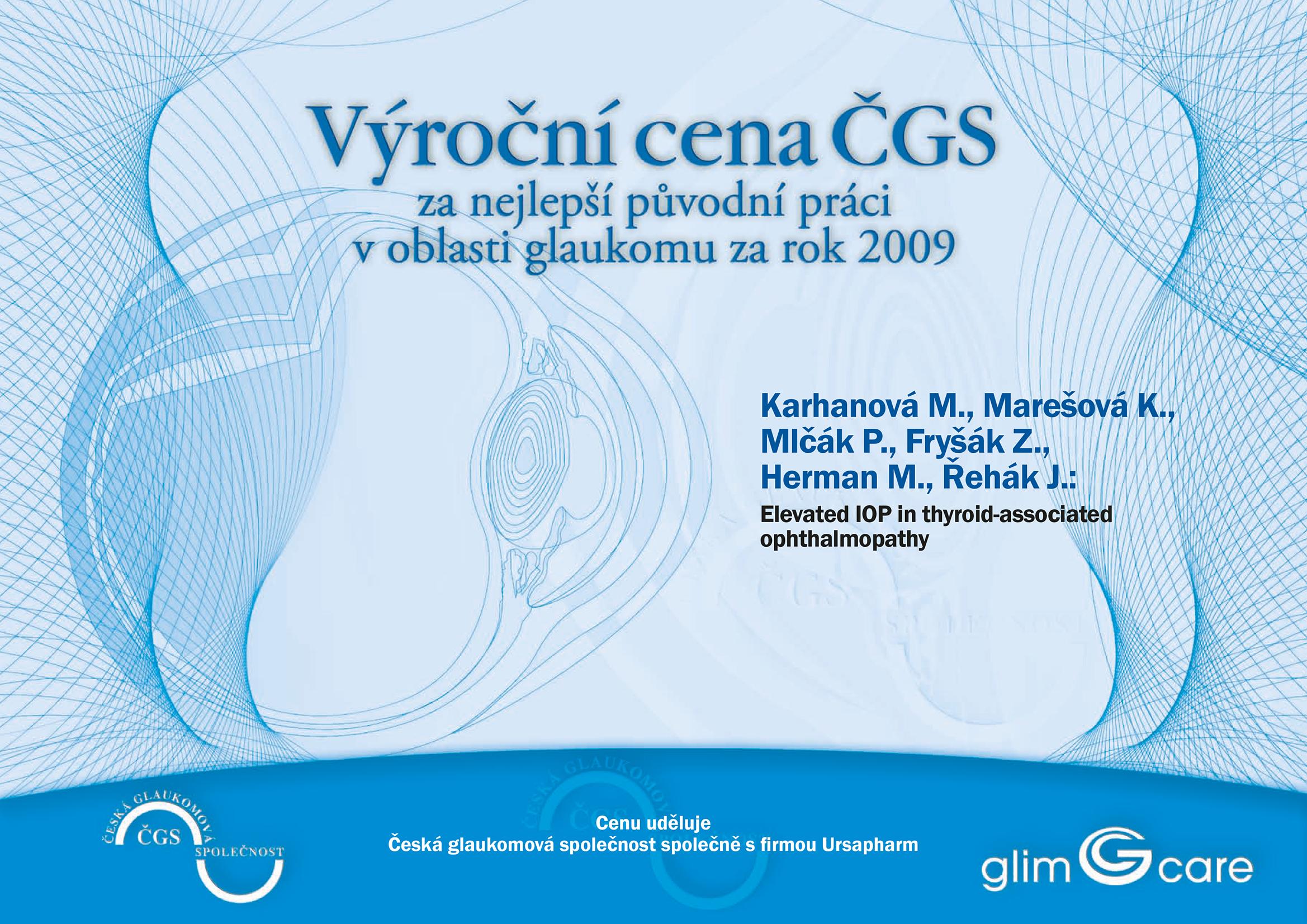 Výroční cena ČGS 2009
