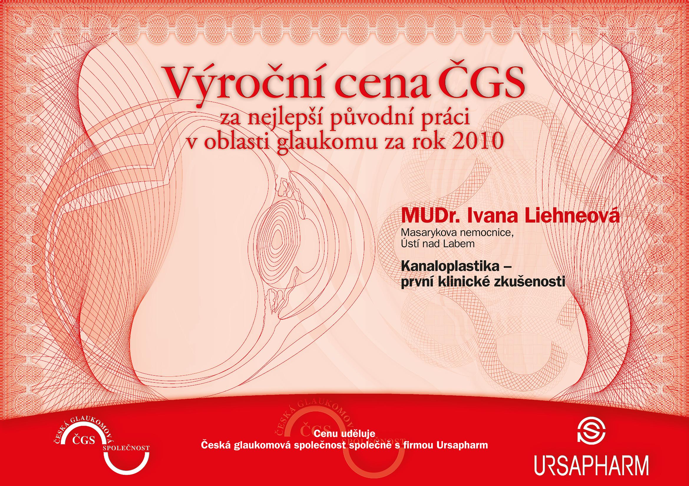 Výroční cena ČGS 2010