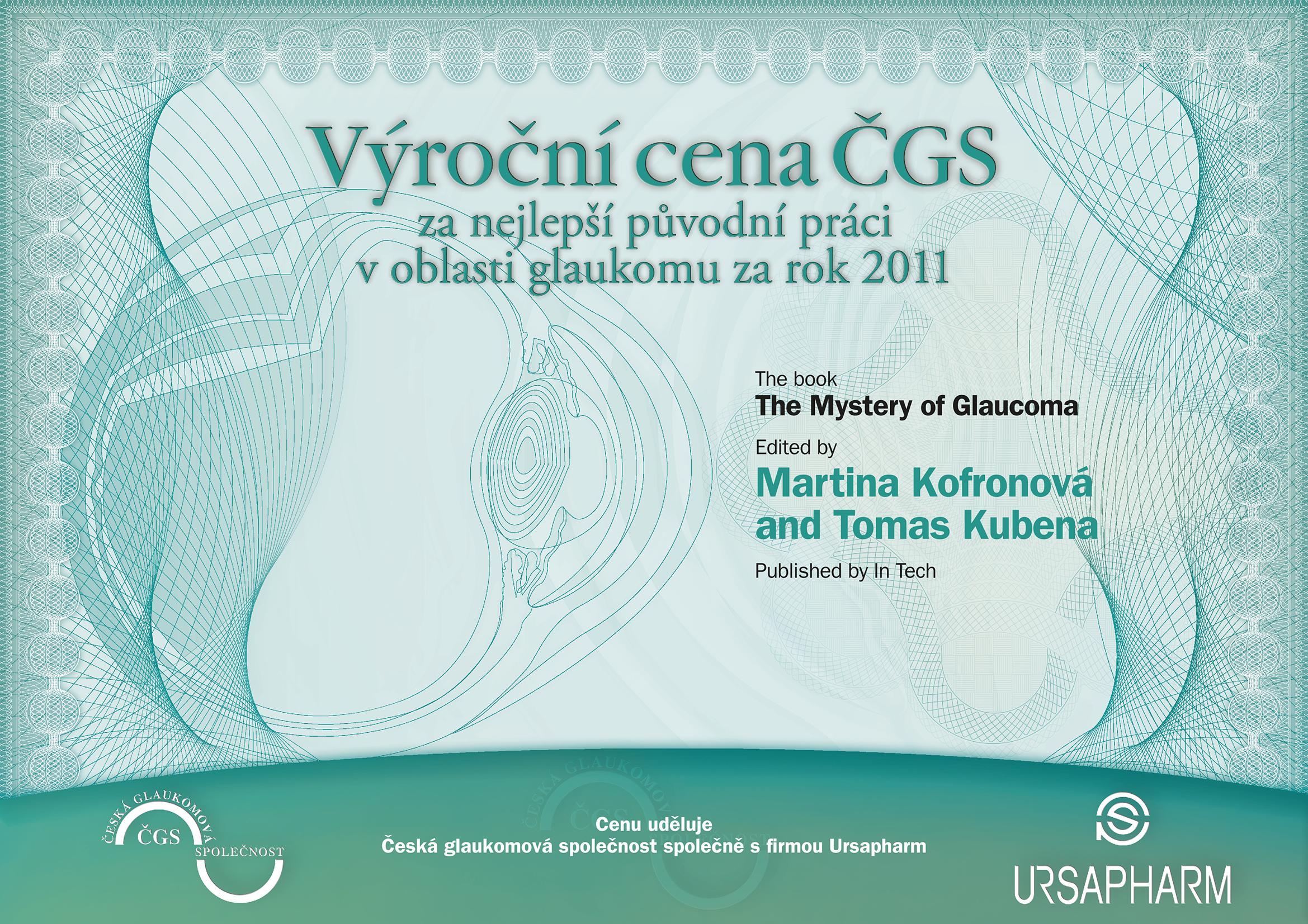 Výroční cena ČGS 2011