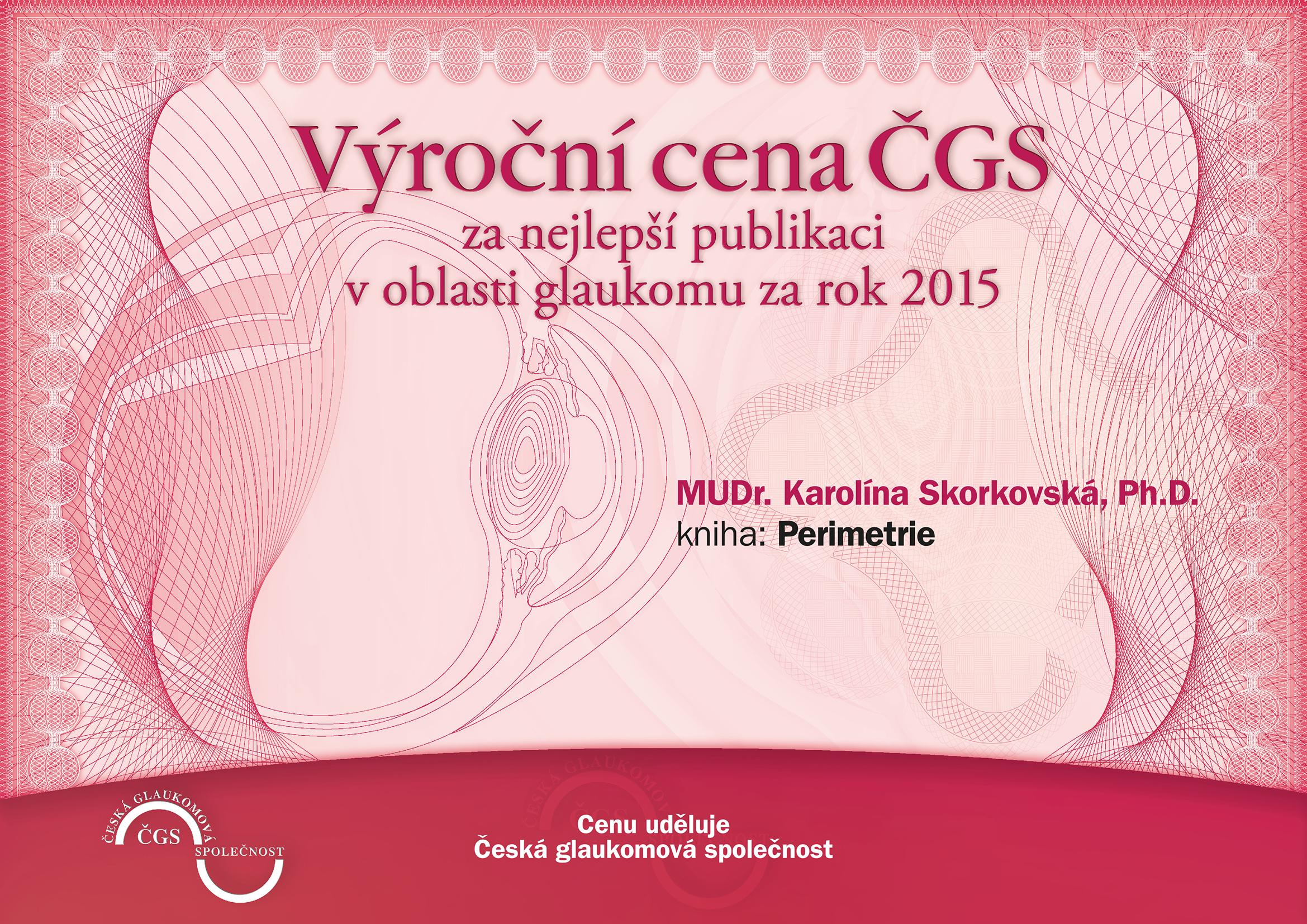 Výroční cena ČGS 2015